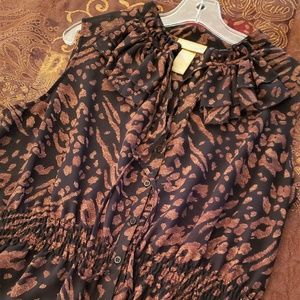 MISS TINA by Tina Knowles Blouse Leopard sz 20/2XL
